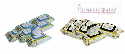 NEW Bambeco Bambure Baby Wipes Natural or Bamboo 6 Packs of  80 Wipes per pack
