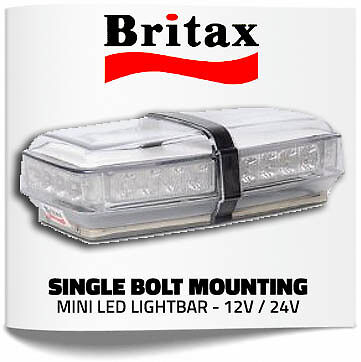Britax 12v/24v LED Strobe Amber Bolt Beacon Recovery/Tow/Warning/Flashing Light