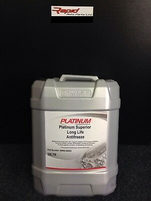 20 LTR PLATINUM New CONCENTRATED RED LONGLIFE (5yr) ANTIFREEZE - 20 LITRE 20L