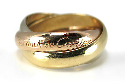 les must de Cartier Trinity Ring Gr. 46 Gelbgold Rotgold Weißgold [BRORS 10561]
