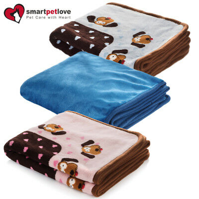 Smart Pet Love Snuggle Puppy Kitten Blanket Ideal Whelping Box Extra Soft Plush