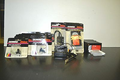 LOT OF 31 GEMINI VIDEO PRODUCTS (GAME SWITCH, CAMCORDER HEAD CLEANER, ETC)