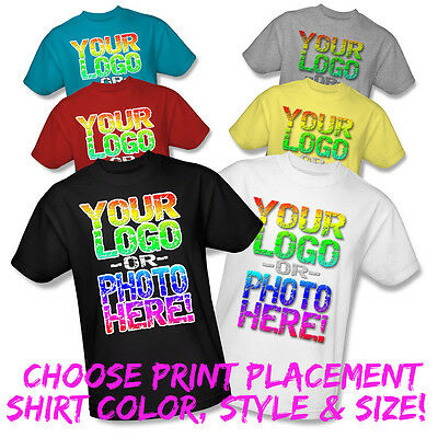 Custom T-Shirt Printing Full Color Men Women Kids S M L Xl 2Xl 3Xl 4Xl 5Xl 6Xl