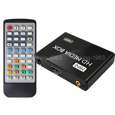 FULL HD 1080P Multi Media Player HDMI USB SD/MMC MKV Für 2TB Externe Festplatten