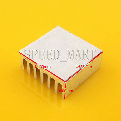 Heat Sink with Thermal Adhesive for Computer CPU Memory Chip IC 14*14*6mm