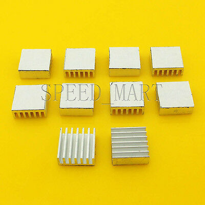 10 PCS Heat Sink with Thermal Adhesive for Computer CPU Memory Chip IC 14*14*6mm