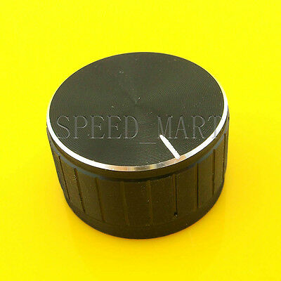 Black Knob 30*17mm Cap Rotary Switch CD Player Volume Pointer Hole 6mm