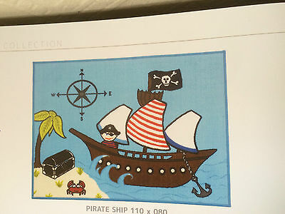 kids large size pirate playmat 110cmx80cm