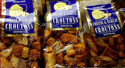 2, 3 or 4 Bags Trader Joe's Cheese & Garlic Croutons Great for Soup or Salad