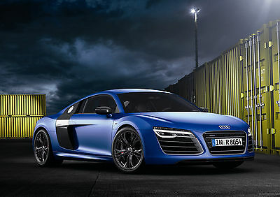 Free adhesive Teens bedroom wallpaper mural Audi R8 Los Angeles 368x254cm