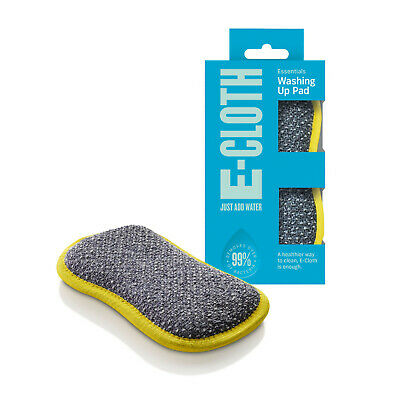 e-cloth Microfibre Dish Pot Washing Up Pad Scourer Non-Scratch Double Sided WUP
