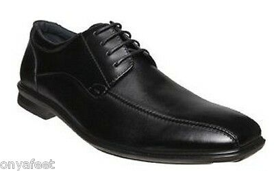 Mens HUSH PUPPIES CAREY Black FORMAL/DRESS/WORK/CASUAL/LEATHER SHOES -EXTRA WIDE