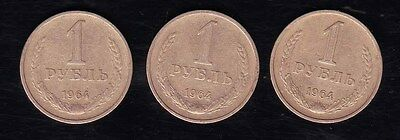"USSR - 1964 ""1 Rouble"" Coins"