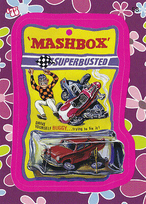"2008 Wacky Packages Flashback1 Pink Border ""MASHBOX"" #58 Sticker Card"