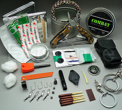 COMBAT SURVIVAL KIT emergency tin scouts cadets military camping hiking EDC