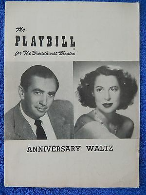 Anniversary Waltz - Broadhurst Theatre Playbill - April 7th, 1954 - Carey