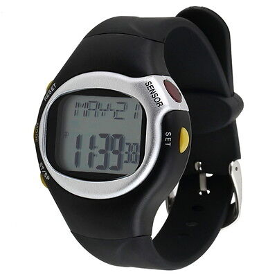 Pulse Heart Rate Monitor Wrist Watch Calories Counter Sports Fitness Exercise KA