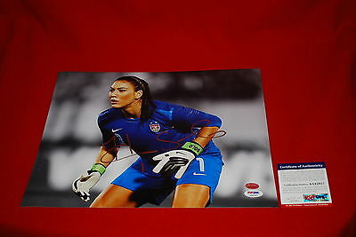 HOPE SOLO USA womens soccer signed PSA/DNA 11X14 photo 1