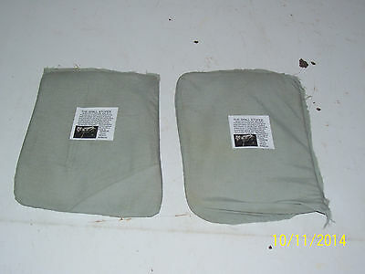 BULLETPROOF Block Spall 2 Trauma Plates Level IIIA 6X8  Body Armor Vest Kevlar