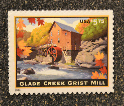 2014USA   #4927     $5.75  Glade Creek Grist Mill - Priority Mail -  Mint  NH