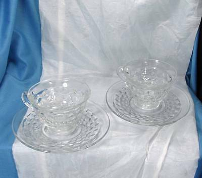 Pair of Fostoria American Cups and Saucers