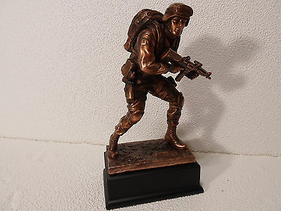 "Marine Corp Soldier Statue Trophy Customize US Military 10 "" Award Bronze NEW"
