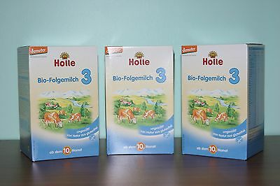 Holle Organic Stage 3 Baby Infant Formula (3 Boxes) Sealed Boxes FREE Shipping