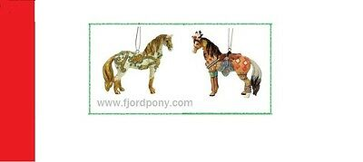 Horse of a Different Color - Set of 2 Ornaments Carnevale & Dancer