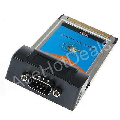 RS232 DB9 Serial I/O Port to PCMCIA PC CardBus Adapter Laptop Notebook