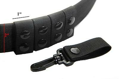 Police Security Duty Snap Belt Keepers Fit Belts 2 inch Black Nylon 5 Pcs