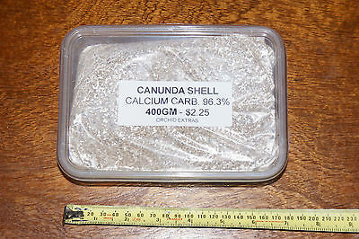 Canunda Shell - Grit 400gm. High Calcium and balances PH. Perfect for orchid