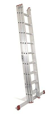 Lyte DIY Aluminium Extension Ladder - 3 Section|3x7 Rung|Max 5.20m Height|BD325