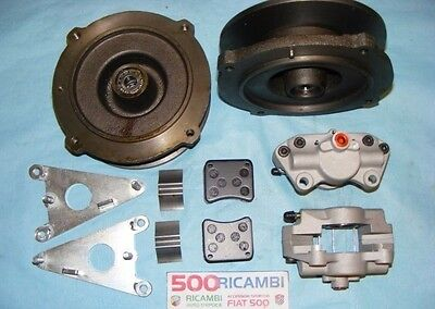Fiat 500 F/l/r 126 Kit Modifica Freni A Disco Anteriori Abarth Attacco Originale