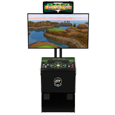 2017 Golden Tee Golf Home Arcade Game With Monitor Stand, No Monitor