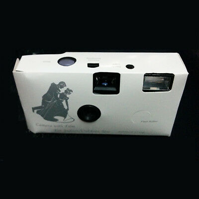 27exp 1 x DISPOSABLE WEDDING Bridal CAMERA WITH FLASH AND TABLE CARD