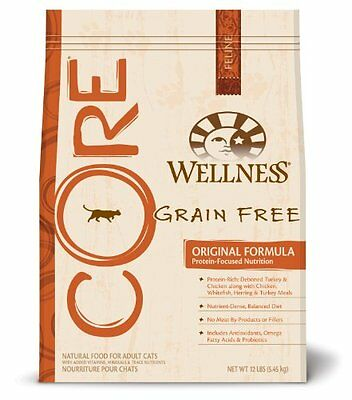 Wellness CORE Grain Free Dry Cat Food for Adult Cats, Original Fish and Fowl Rec