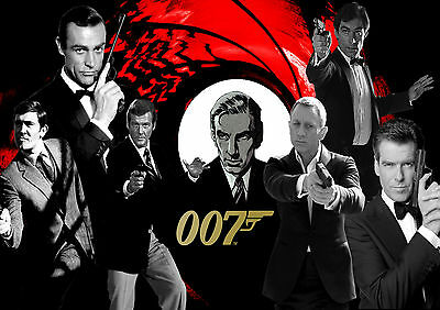 James Bond Movie Collection Wall Art Poster (A1 - A5 Sizes Available)