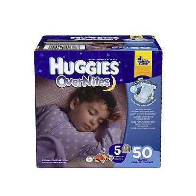 Huggies Overnites Diapers, Size 5, 50 Count , New, Free Shipping