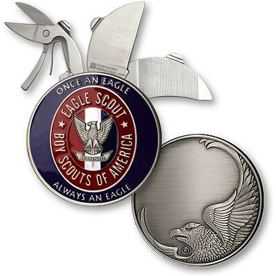 """Eagle Scout® """"Once an Eagle, Always an Eagle"""" -1 7/8 inch Nickel Coin Knife"""