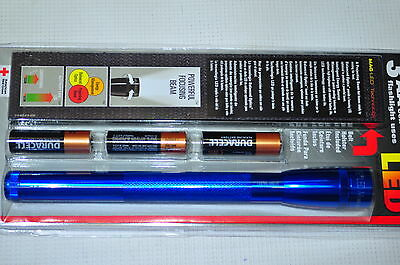 MAGLITE SP2311H  3-AA Cell Mini LED Flashlight with Holster,Blue Made in USA NEW
