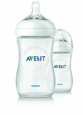 Philips AVENT BPA Free Natural Polypropylene Bottle, 9 Ounce, 2 Pack , New, Free