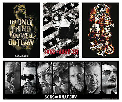 Four Individual New Sons Of Anarchy Posters Never Hung! Original And Exclusive