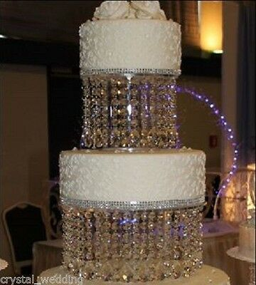 """Crystal wedding Cake Stand - large tear droplet  - sizes 6"""" -16"""" round or square"""