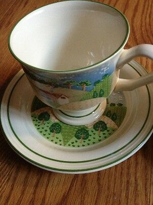 SANGO STONE 3645 COUNTRY COTTAGE Coffee Tea CUP AND SAUCER
