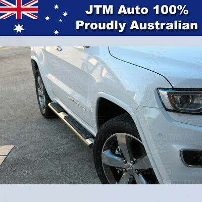 """Jeep Grand Cherokee Running Boards Side Steps 4"""" INCH Stainless Steel 2011-2016"""