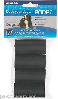Dog Poo Bags ANCOL biodegradable poop pet waste refills 30,60,120,240,480