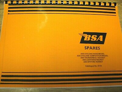 Bsa A50 Cyclone A65 Lightning Models Parts Book Manual 1964-65 00-5118 - Bp96