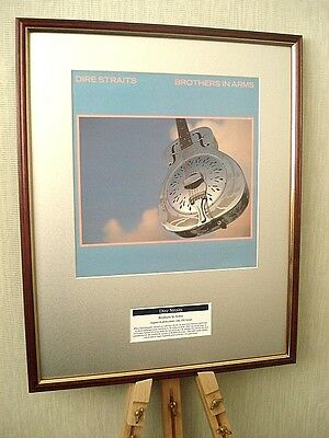Dire Straits Brothers In Arms Original Framed Album Cover Artwork
