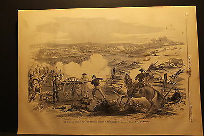 A. R. Waud, Battle Of Antietam - First Maryland Battery, Engraving 1862