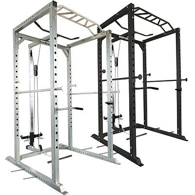 Olympic Power Rack Lat Pulldown Heavy Duty Squat Cage